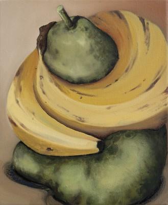 Bananaconda,30x25 cm, Mischtechnik auf Leinwand, 2013