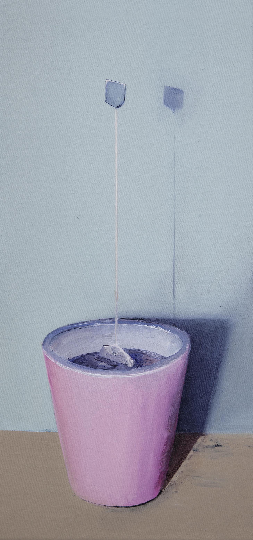 steht wie ne eins!,40x20cm, Mischtechnik auf Leinwand, 2013